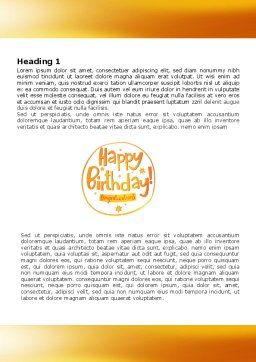 Happy Birthday Card Word Template, First Inner Page, 07278, Holiday/Special Occasion — PoweredTemplate.com
