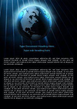 World Spotlight Word Template, Cover Page, 07280, Global — PoweredTemplate.com