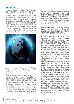 World Spotlight Word Template, First Inner Page, 07280, Global — PoweredTemplate.com