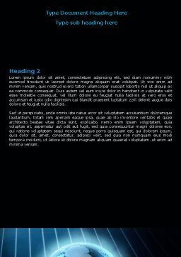 World Spotlight Word Template, Second Inner Page, 07280, Global — PoweredTemplate.com