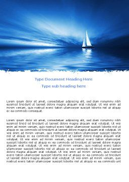 Blue Ocean Word Template, Cover Page, 07283, Nature & Environment — PoweredTemplate.com