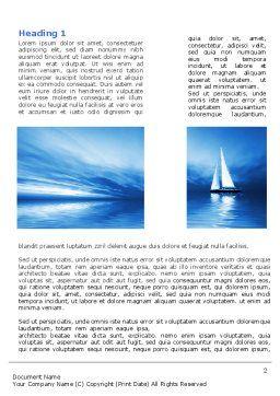Blue Ocean Word Template, First Inner Page, 07283, Nature & Environment — PoweredTemplate.com