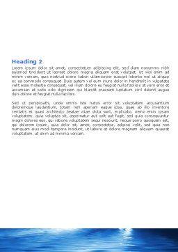 Blue Ocean Word Template, Second Inner Page, 07283, Nature & Environment — PoweredTemplate.com