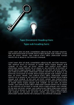 Key and Keyhole Word Template, Cover Page, 07287, Consulting — PoweredTemplate.com