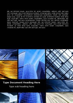 Bright Pictures Of Business Center Word Template, Cover Page, 07290, Business — PoweredTemplate.com