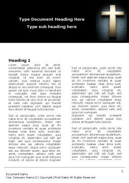 Cross In The Dark Word Template, First Inner Page, 07291, Religious/Spiritual — PoweredTemplate.com