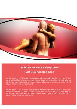 Nude Lovers Word Template, Cover Page, 07295, Medical — PoweredTemplate.com