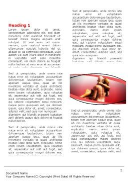 Nude Lovers Word Template, First Inner Page, 07295, Medical — PoweredTemplate.com