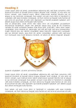 Shield And Swords Word Template, First Inner Page, 07298, Legal — PoweredTemplate.com