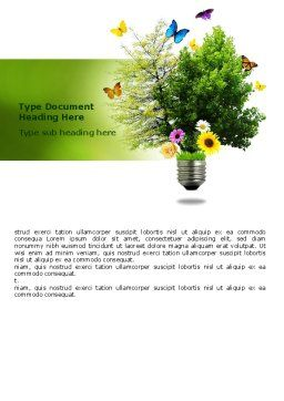 Alternative Green Energy Word Template, Cover Page, 07299, Technology, Science & Computers — PoweredTemplate.com