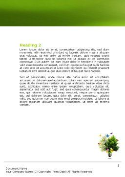 Alternative Green Energy Word Template, Second Inner Page, 07299, Technology, Science & Computers — PoweredTemplate.com