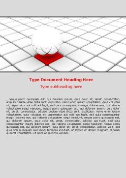 Business Implementation Word Template, Cover Page, 07300, Consulting — PoweredTemplate.com