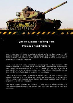 Tank Word Template, Cover Page, 07301, Military — PoweredTemplate.com
