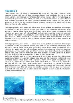 Air Communication Word Template First Inner Page