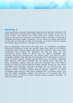 Air Communication Word Template Second Inner Page