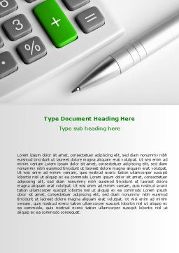 Accountant Tools Word Template, Cover Page, 07305, Financial/Accounting — PoweredTemplate.com