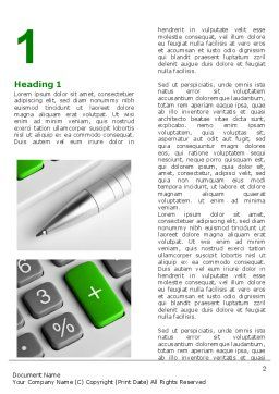 Accountant Tools Word Template, First Inner Page, 07305, Financial/Accounting — PoweredTemplate.com