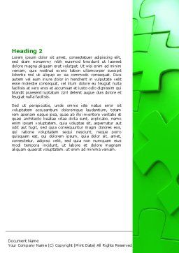 Green Puzzle Word Template, Second Inner Page, 07306, Consulting — PoweredTemplate.com