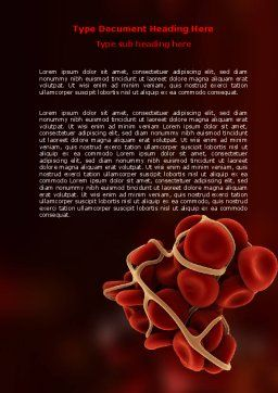 Blood Thrombus Word Template, Cover Page, 07309, Medical — PoweredTemplate.com