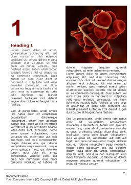 Blood Thrombus Word Template, First Inner Page, 07309, Medical — PoweredTemplate.com