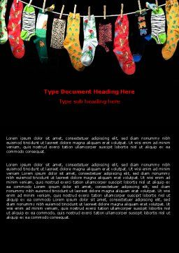 Socks Word Template, Cover Page, 07315, Education & Training — PoweredTemplate.com