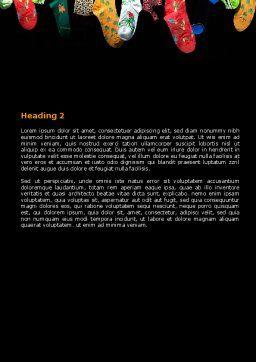 Socks Word Template, Second Inner Page, 07315, Education & Training — PoweredTemplate.com