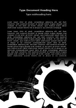 Rotating Wheels Word Template, Cover Page, 07318, Utilities/Industrial — PoweredTemplate.com