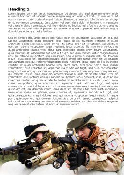 Soldiers In Iraq Word Template, First Inner Page, 07321, Military — PoweredTemplate.com