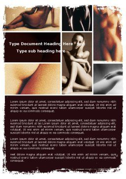 Nude Photography Word Template Cover Page