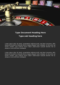 Roulette Word Template, Cover Page, 07325, Careers/Industry — PoweredTemplate.com