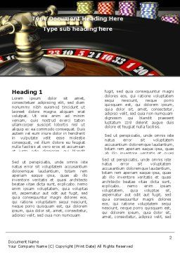 Roulette Word Template, First Inner Page, 07325, Careers/Industry — PoweredTemplate.com