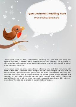 Twitter Word Template, Cover Page, 07328, Holiday/Special Occasion — PoweredTemplate.com
