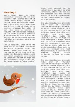 Twitter Word Template, First Inner Page, 07328, Holiday/Special Occasion — PoweredTemplate.com