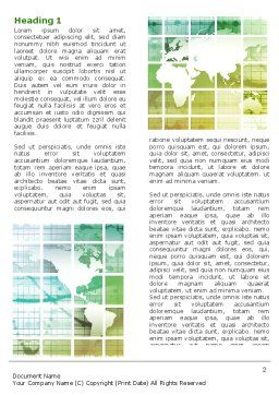 World Mainland Fragments Word Template, First Inner Page, 07331, Global — PoweredTemplate.com