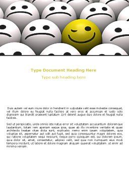 Winking Smile Word Template, Cover Page, 07337, Business Concepts — PoweredTemplate.com