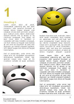 Winking Smile Word Template, First Inner Page, 07337, Business Concepts — PoweredTemplate.com