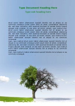 Spring And Winter Word Template, Cover Page, 07340, Nature & Environment — PoweredTemplate.com
