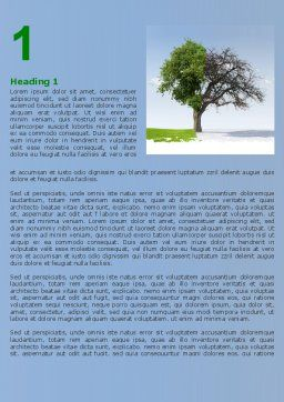 Spring And Winter Word Template, First Inner Page, 07340, Nature & Environment — PoweredTemplate.com