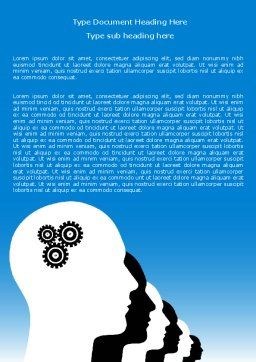 Popular Thinking Word Template Cover Page