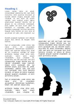Popular Thinking Word Template First Inner Page