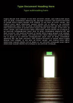 Exit Door Word Template, Cover Page, 07342, Consulting — PoweredTemplate.com