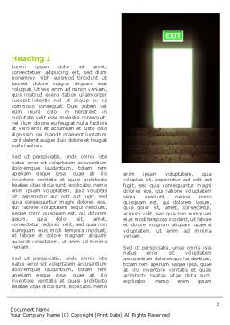 Exit Door Word Template, First Inner Page, 07342, Consulting — PoweredTemplate.com