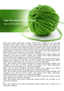 Green Thread Clew Word Template, Cover Page, 07346, Business Concepts — PoweredTemplate.com