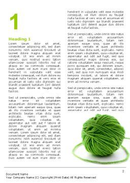 Green Thread Clew Word Template, First Inner Page, 07346, Business Concepts — PoweredTemplate.com