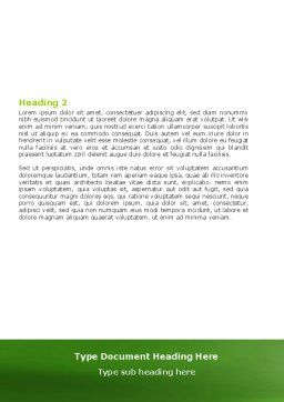 Green Thread Clew Word Template, Second Inner Page, 07346, Business Concepts — PoweredTemplate.com