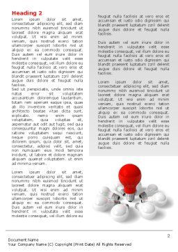 Red Bulb Word Template, First Inner Page, 07347, Consulting — PoweredTemplate.com