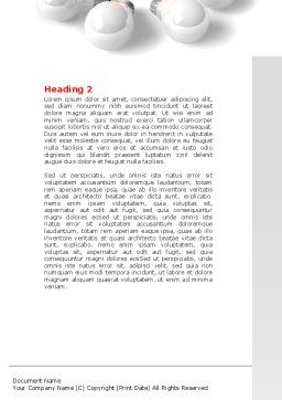 Red Bulb Word Template, Second Inner Page, 07347, Consulting — PoweredTemplate.com