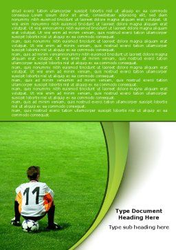 Little Football Player Word Template Cover Page