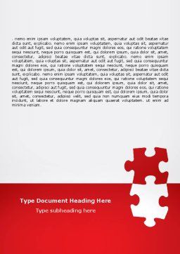 Red Jigsaw Pieces Word Template, Cover Page, 07352, Consulting — PoweredTemplate.com