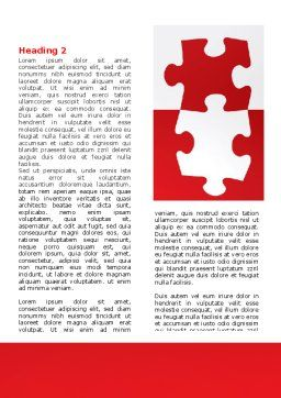 Red Jigsaw Pieces Word Template, First Inner Page, 07352, Consulting — PoweredTemplate.com